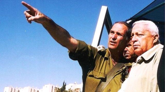 Dany Tirza y Ariel Sharon