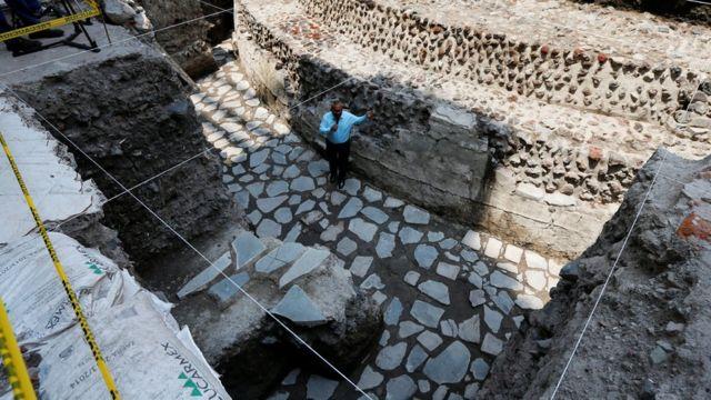 Templo hallado en Ciudad de México
