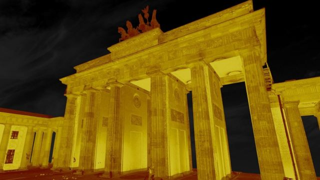 Laser scan of the Brandenburg Gate
