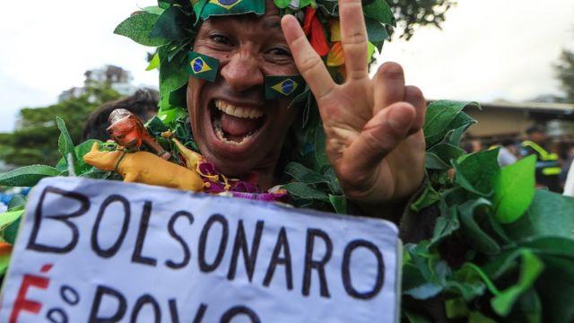 Eleitor de Bolsonaro no Rio de Janeiro em 28 de outubro de 2018