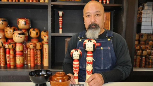 The kokeshi masters in the Sendai area make both cute and traditional dolls