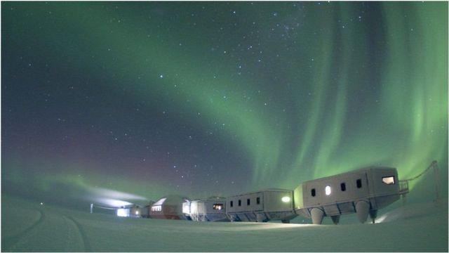 Estação britânica na Antártica