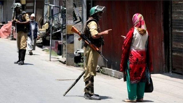 کشمیر میں سکیورٹی فورسز