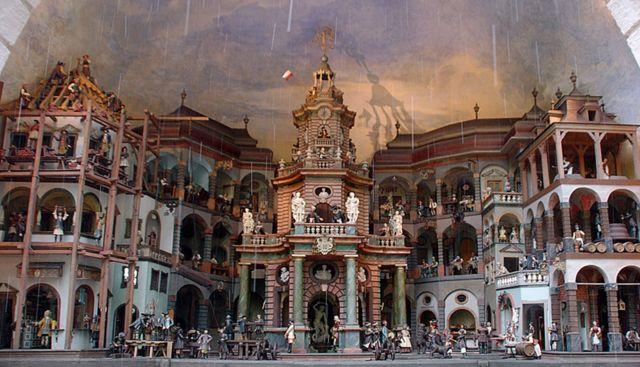 El teatro de autómatas del Palacio Hellbrunn