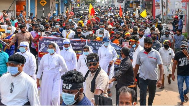 Tamils, Muslims and Christians held a major rally for rights this month, marching from the east to the north
