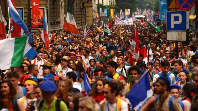 Сотни тысяч пришли на Всемирный день молодежи в Кракове