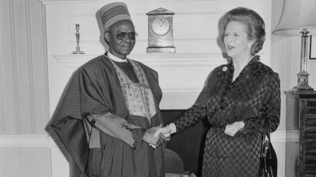 Alhaji Shehu Shagari meet wit British Prime Minister Margaret Thatcher