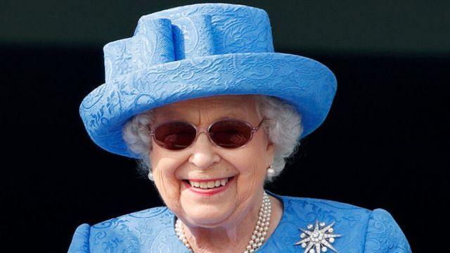 The Queen wearing a hat at the Epsom Derby 2019