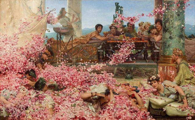 """As rosas de Heliogábalo"", do pintor holandês Lawrence Alma-Tadema"