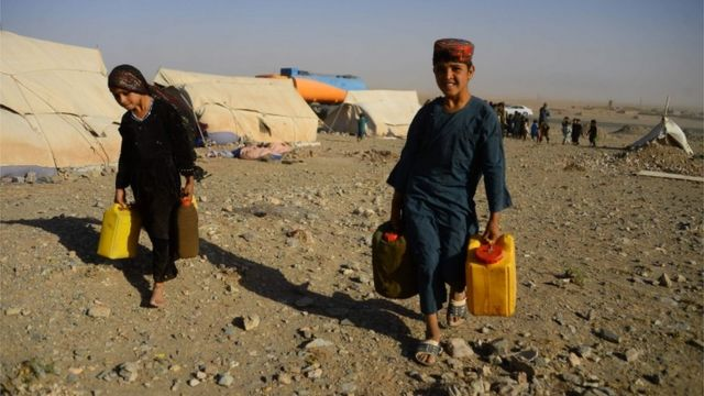 Afghan drought 'displacing more people than Taliban'