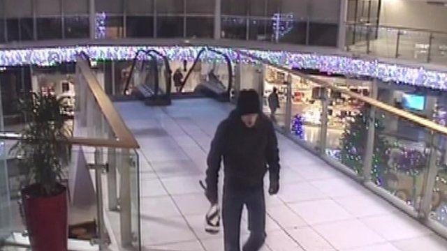 Man sought over Preston shopping centre device