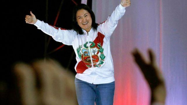 Keiko Fujimori en un mitin.