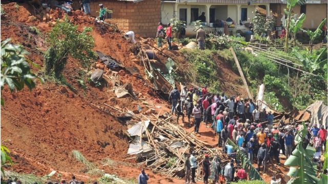 Bafoussam landslide: Authorities say deh komot 37 die bodi dem