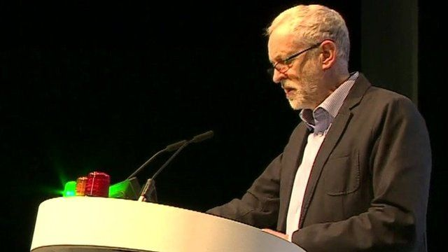 Jeremy Corbyn at the National Union of Teachers conference