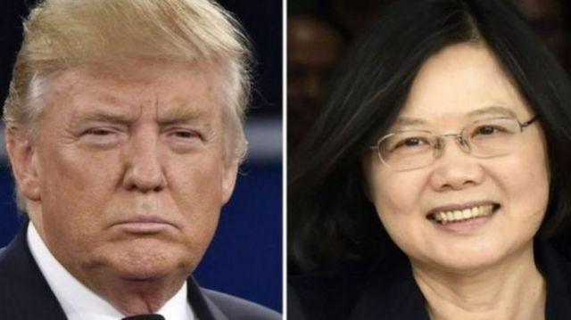 2016年特朗普与蔡英文电话交谈打破了1979年华盛顿与台北断交、与北京建交以来的常规