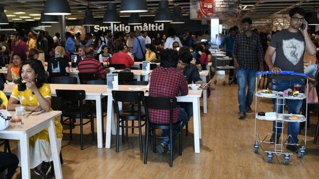 Ресторан в магазине IКЕА в Хайдарабаде