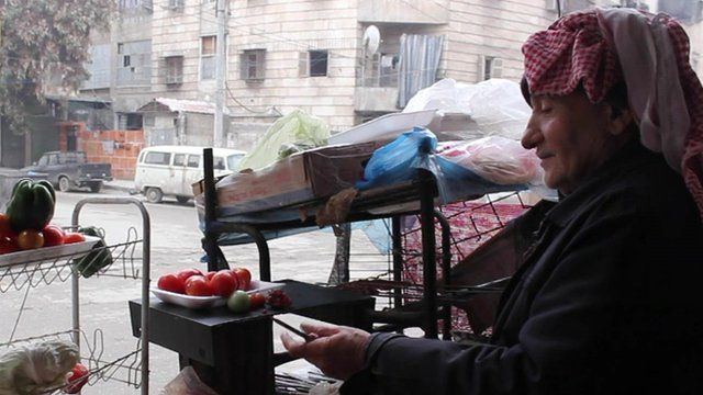 A resident inside rebel-held Aleppo