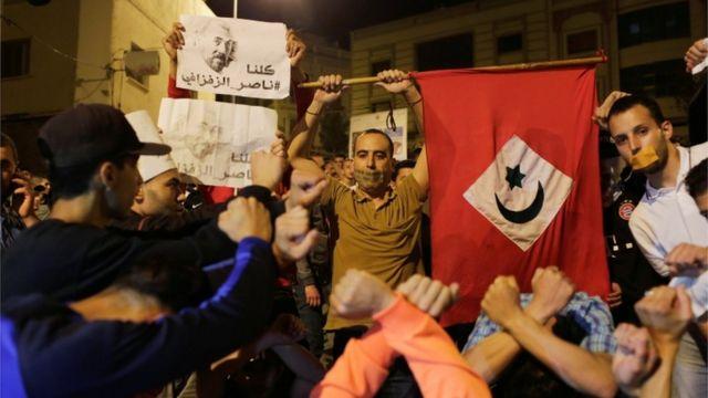المتظاهرون طالبوا بإطلاق سراح ناصر الزفزافي