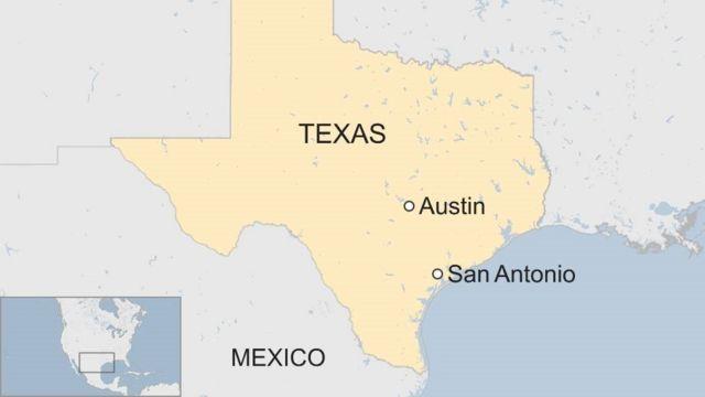 Map showing San Antonio