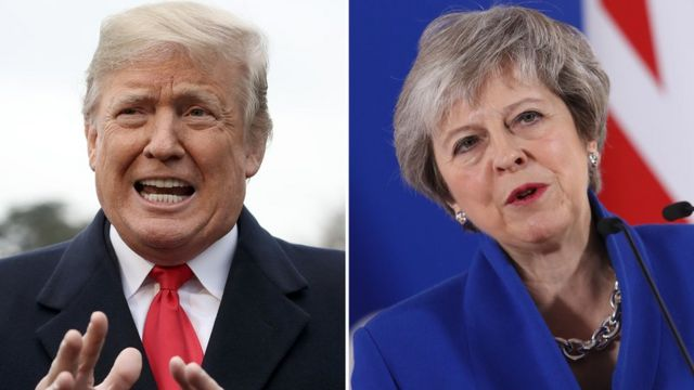 Donald Tramp i Tereza Mej