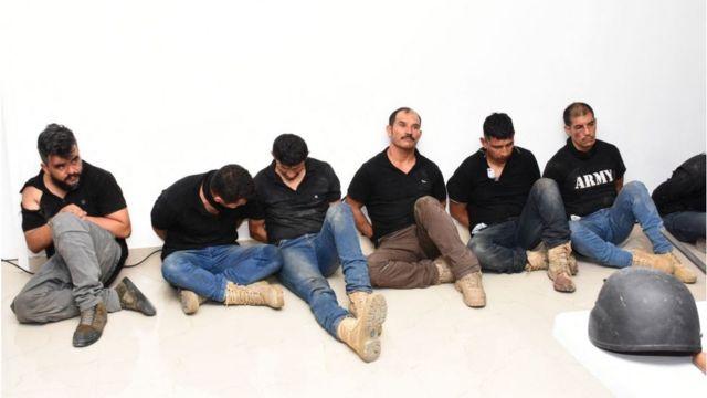 Exmilitares colombianos capturados en Haití.