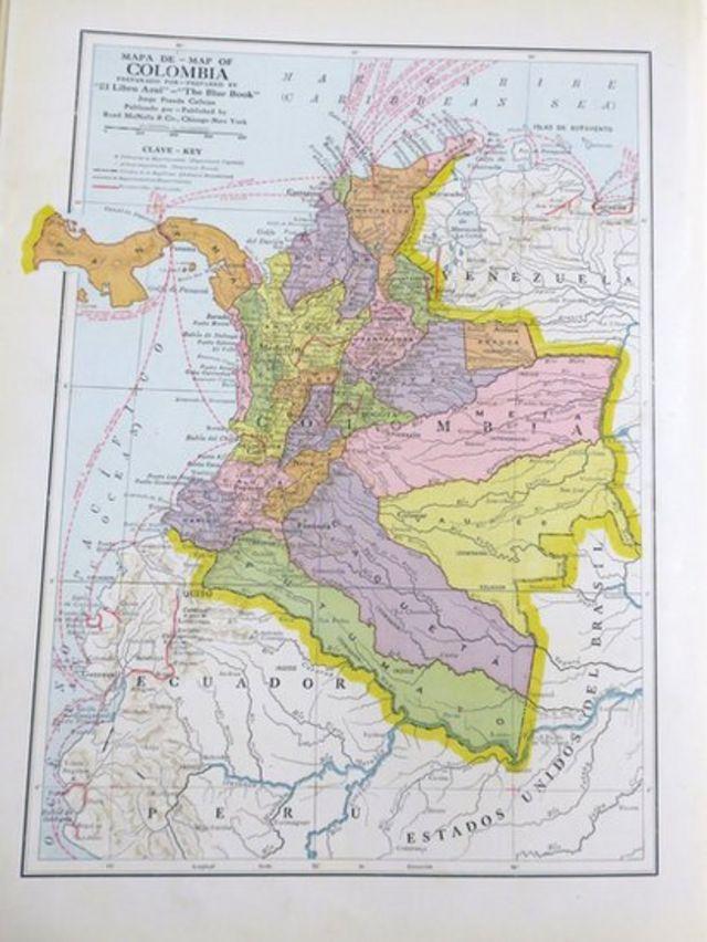 Mapa de Colombia.