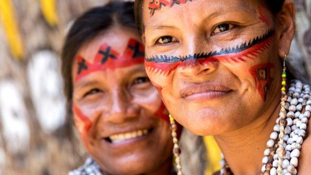 Tribu indígena de la Amazonía.