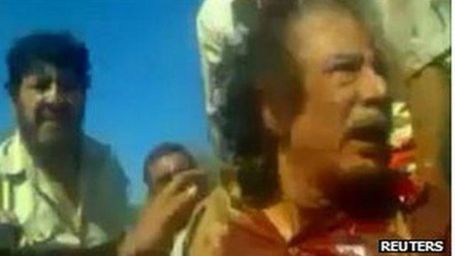 Khadafi, pouco antes de ser morto