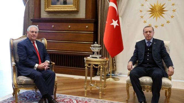 Держсекретар США Рекс Тіллерсон та президент Туреччини Реджеп Ердоган