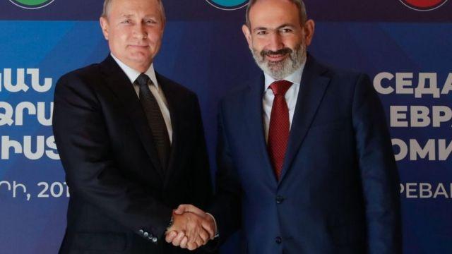 Владимир Путин и Никол Пашинян