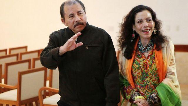 Daniel Ortega, presidente de Nicaragua, y Rosario Murillo, la primera dama