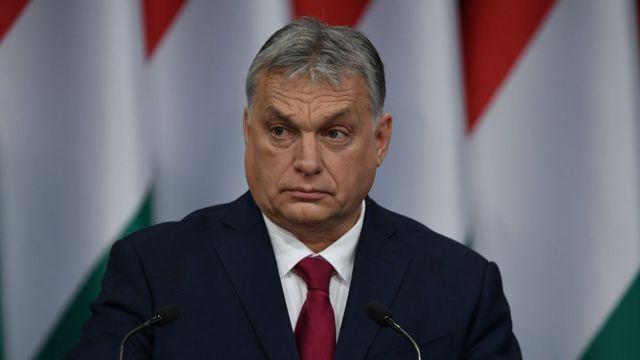 Премьер-министр Венгрии Виктор Орбан выступает с ежегодным посланием 16 февраля 2020 года