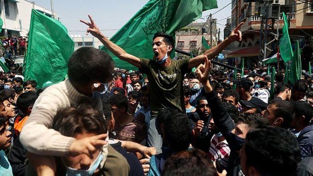 Сторонники ХАМАС в секторе Газа
