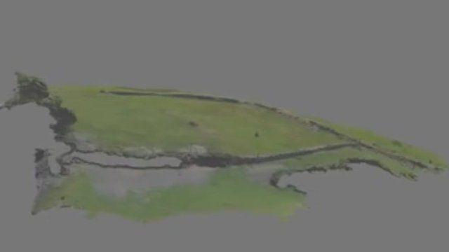 3-D model of Hen Castle site