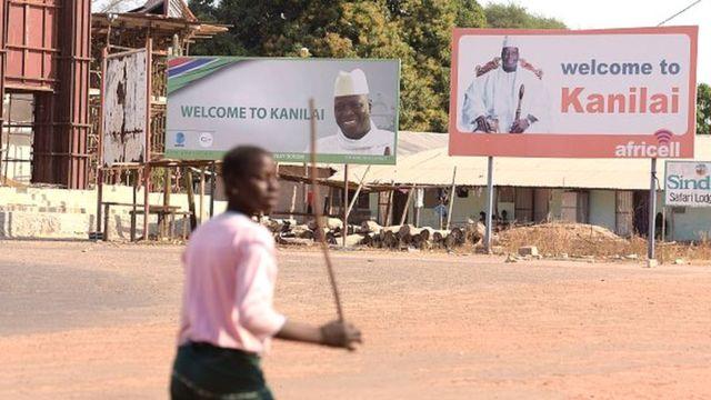 Les manifestants ont demandé le départ de toutes les forces de l'ECOMIG et de l'armée gambienne de Kanilai.