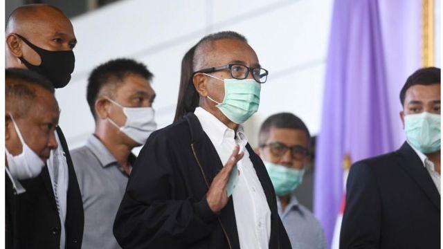 นายวีระกานต์ มุสิกพงศ์ อดีตประธาน นปช. ปัจจุบันอายุ 72 ปี