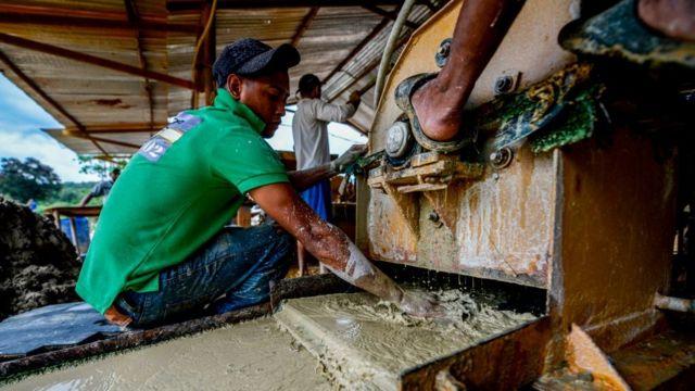 Mina de oro en Venezuela