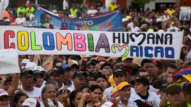 Campanha eleitoral na Colômbia