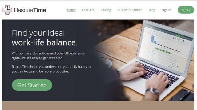 RescueTime ajuda usuários a monitorar produtividade e eliminar distrações.