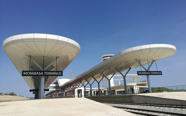 蒙巴薩車站月台