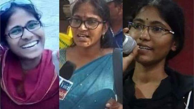 హైదరాబాద్లో పోలీసులుగా చెబుతున్నవారు తీసుకెళ్లిన ముగ్గురు యువతులు
