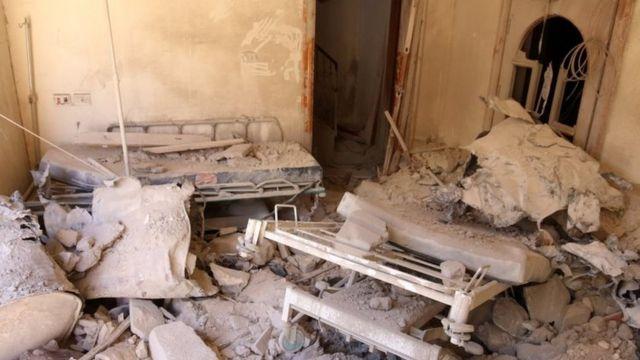 اصابت بمب بشکه ای به بزرگترین بیمارستان شهر حلب