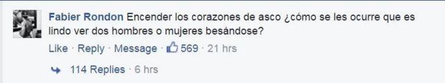 Comentario en Facebook