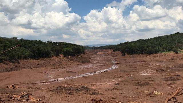 Local próximo à localização da pousada Nova Estância Inn, que foi soterrada em minutos pela lama