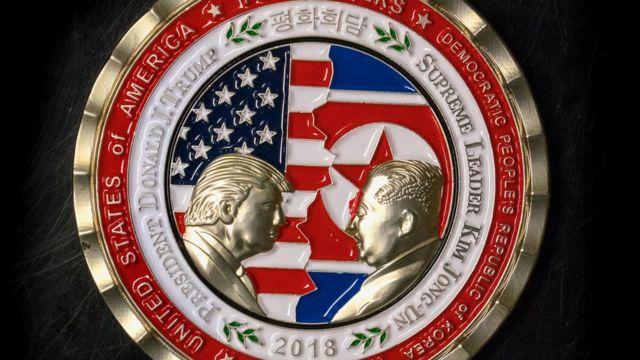 سکه یادبود ترامپ و کیم