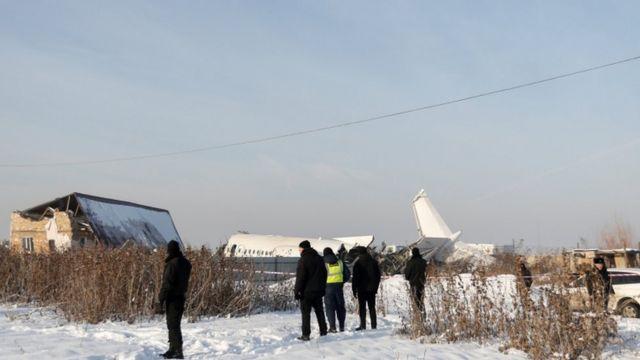 Accidente de avión en Kazajistán.