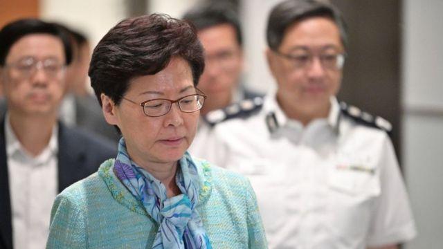 Lãnh đạo Hong Kong Carrie Lam trong sáng 2/7/2019