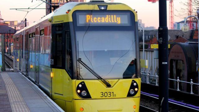 Tranvía en Manchester