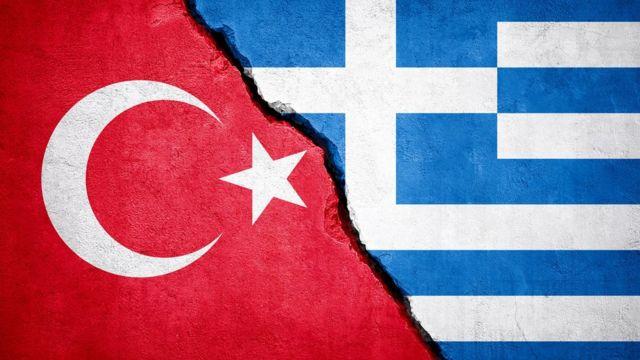 Türkiye ve Yunanistan bayrakları