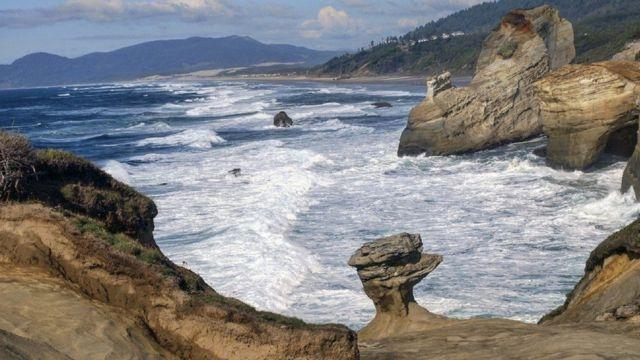 La icónica formación rocosa.